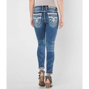 NEW Rock Revival Faded Easy Ankle Skinny Jeans